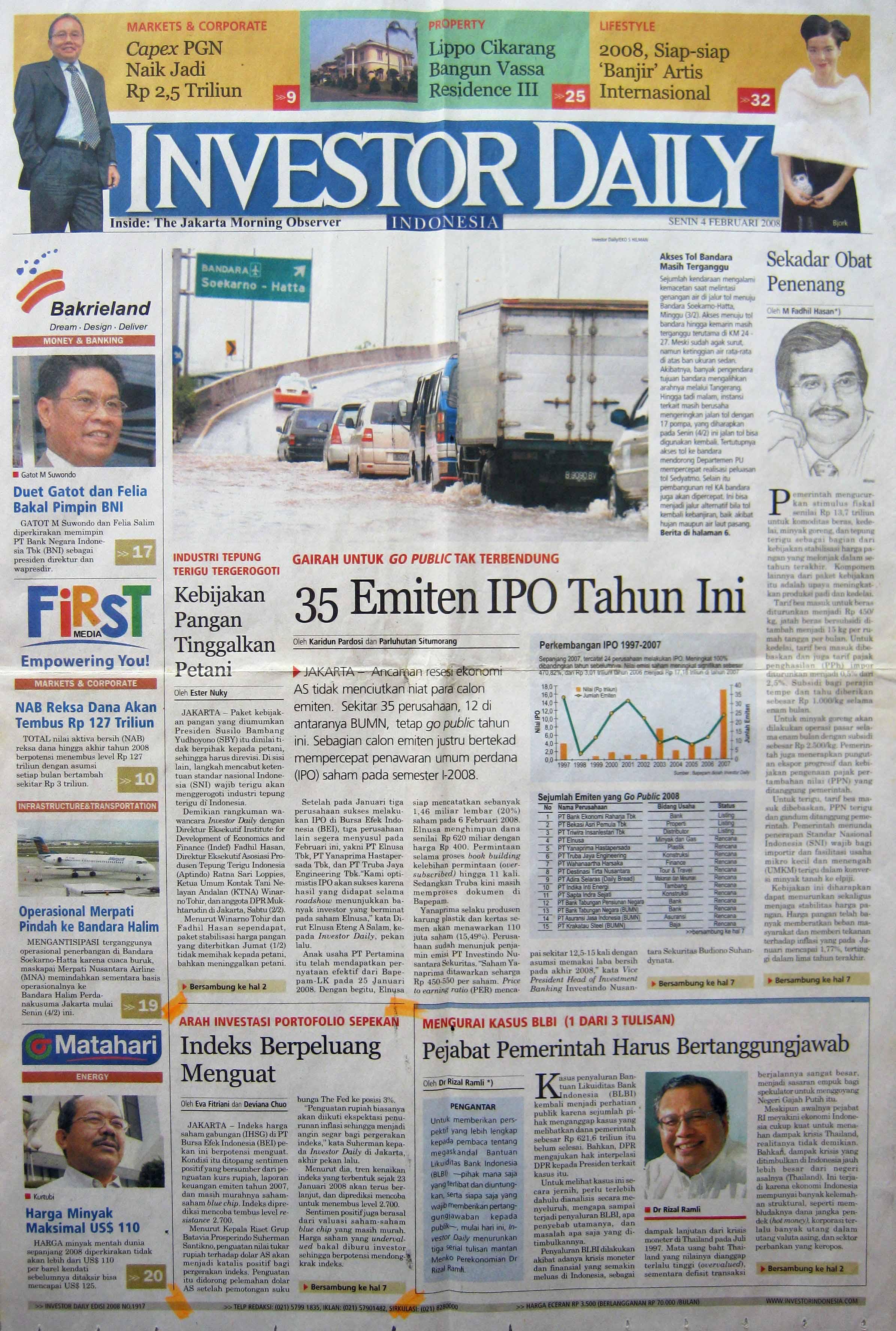 14. 04 Februari 2008 - Indeks Berpeluang Menguat
