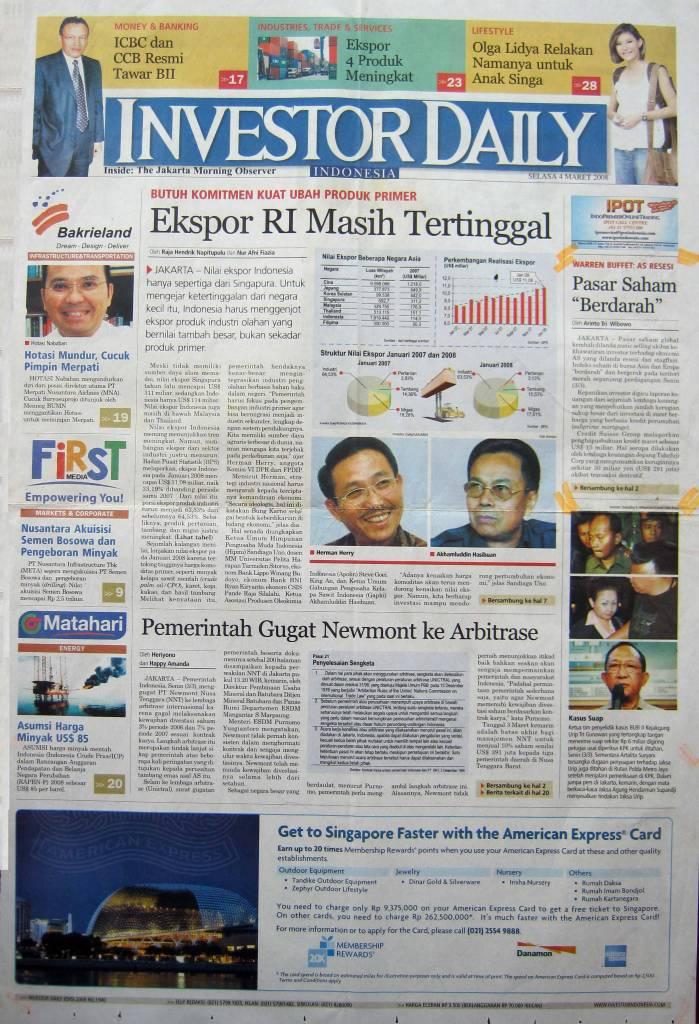 20. 04 Maret 2008 - Pasar Saham Berdarah