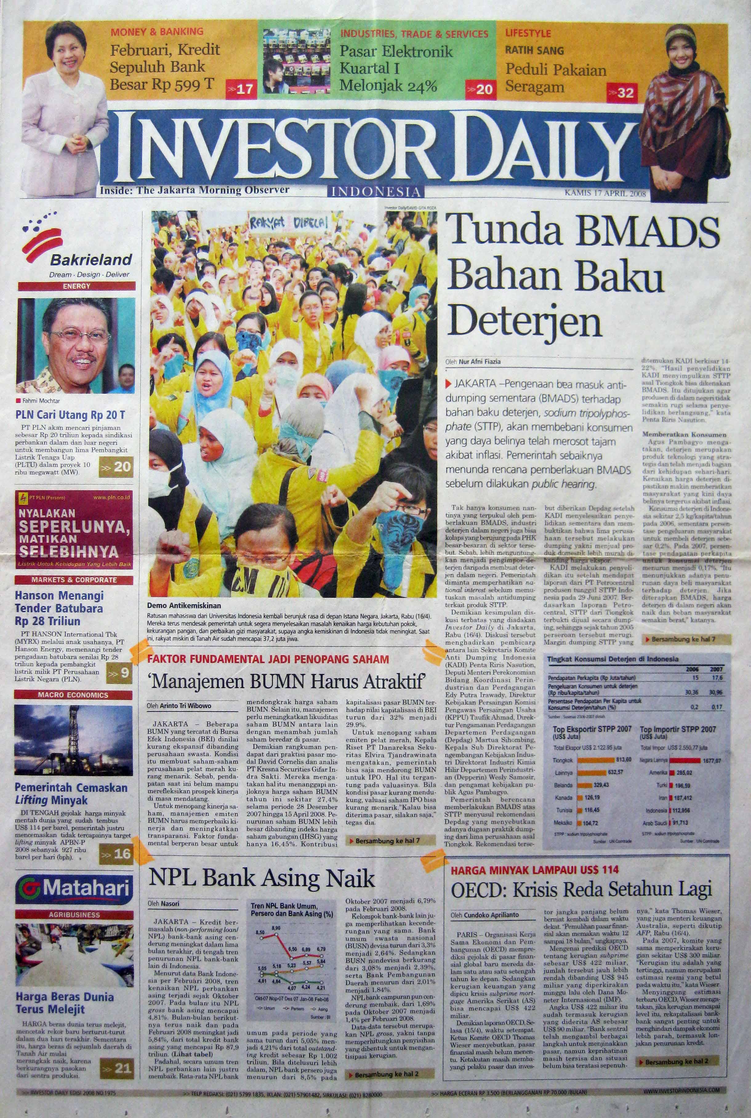 24. 17 April 2008 - Manajemen BUMN Harus Atraktif