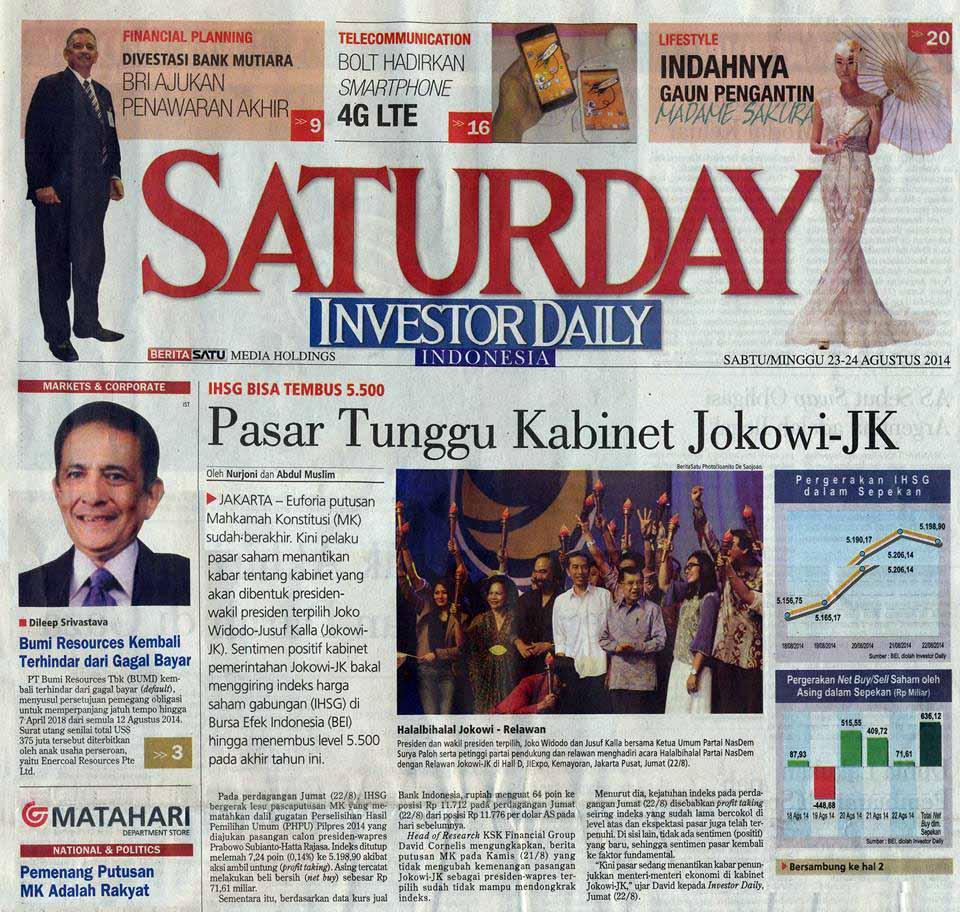 27. 23-24 Agustus 2014 - Pasar Tunggu Kabinet  Jokowi-JK