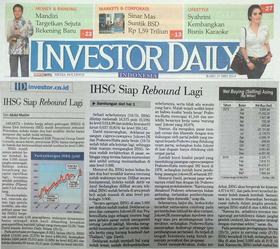 28. 21 Mei 2014 - IHSG Siap Rebound Lagi